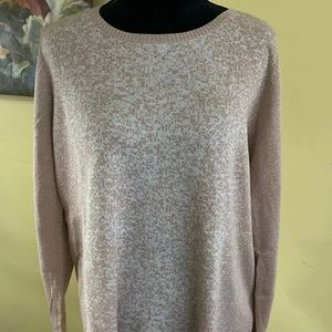 Peach Metallic XL NWT APT 9 Tunic Knit Sweater Removable cowl neck scarf